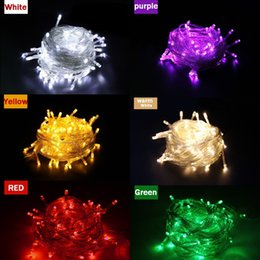 Wholesale String Lights Drop Shipping - Free Shipping 1pieces 100 LED 10m led String Light for Holiday Party Wedding led christmas lighting Free shipping zk64