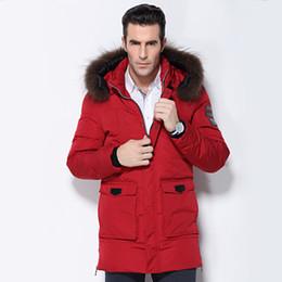 Wholesale Long Down Coat For Men - Wholesale- Men's Down Jacket Fur Collar Coat 2016 Stylish Winter Jacket Men Long Waterproof Green Parka Chaquetas Hombre Down Coat For Man