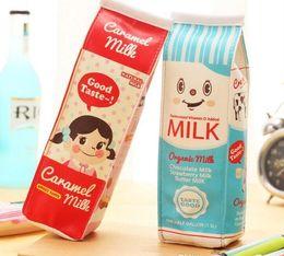 Wholesale Korean Cute Stationery Wholesale - Korean Style PU Milk Buggy Cute Mini Bag Pencil Waterproof Handmade Canvas Pencil Bag Stationery Bags