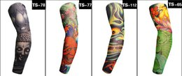 Wholesale Youth Basketball Arm Sleeves - Sports Compression Tattoo Cool Arm Sleeves Youth Adult Baseball Football Basketball Free Shipping