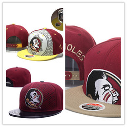 Wholesale Florida State Snapback - 2017 New Style Cheap Florida (FSU) Hat Florida State Seminoles Basketball Caps,Snapback College Football Hats,Adjustable Cap Free Shipping