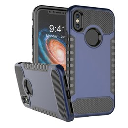 Wholesale Zte Dual - Dual Layer Protection Case For iPhone X Hybrid Armor PC Cover For ZTE Z981 Zmax Pro Samsung Note 8 LG Stylo 3 Lv3 5 G6 Opp Bag