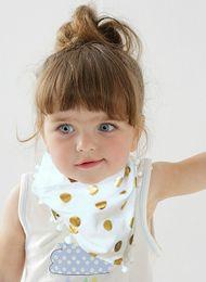Wholesale Triangle Scarf Tassels - Girls Bib Baby Burp Bandana Cotton Soft Infant Triangle Scarf Bib Cool Accessories Newborn Polka Dot Tassel Newborn Saliva Towel C1640