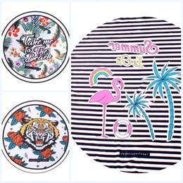 Wholesale Print Tiger Children - Tiger Flamingo Beach Towel Sunscreen Shawl Scarf Blanket Digital Printing Wall Hanging Portable Blankets Customized Hot Sell 13 5ym J R