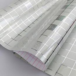 Wholesale Kitchen Oil Proof Wallpapers - Wholesale- New 45x200cm Mosaic 5 Colors Aluminum Foil Self-adhensive Anti Oil Wallpaper for Kitchen High Temperature resistant D30