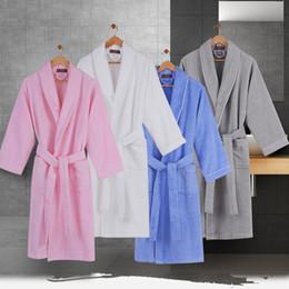 7be3de2243 Cotton bathrobe women nightgown men nightdress for girls high-end bathrobes  home thickening lovers long plus size autumn winter