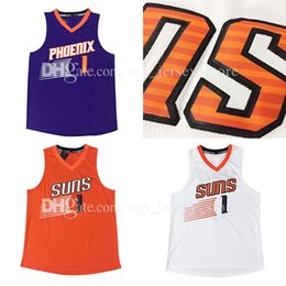 Wholesale Cheap Clothing Fabrics - Cheap Sale 2017 New Arrivals Devin Booker Phoenix basketball jerseys100% Stitched BOOKER #1 Jogging Clothing Mix order new fabrics jersey