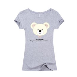 Wholesale Animal Prints Images - Wholesale- 2017 Summer Fashion kawaii Women Slim T shirt Casual T-shirt I love cute Bear   Rabbit   cartoon image Cartoon 3D Print
