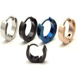 Wholesale Titanium Ear Cuffs - Titanium Steel Ear Buckle Minimalist Stainless Steel Men's Earrings Ear Clip Ear Cuff Men for Women New Earrings Male