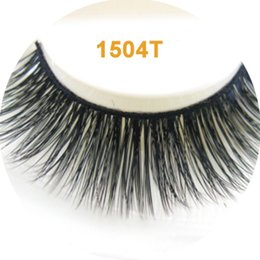 Wholesale Use Import - 3D imitation mink fake eyelashes ultra-natural slender long paragraph bare makeup eyelashes using imported fiber hand made
