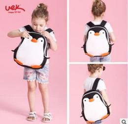 Wholesale 3d Animal Backpacks - School Bag Waterproof Cartoon 3D Penguin Children Backpack Kindergarten Kids Bag Penguin School Bags Girls Boys Neoprene Animal Schoolbag