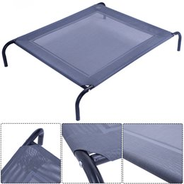 Wholesale Outdoor Dog Mats - New Large Dog Cat Bed Elevated Pet Cot Indoor Outdoor Camping Steel Frame Mat