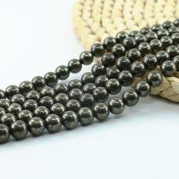 Wholesale Hematite Purple Beads - Natural Hematite Round Beads Copper Semi Precious Gemstone Beads 4 6 8 10mm Full Strand 15'' L0576#