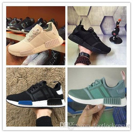 Wholesale Cheap Multi Gyms - 2017 Wholesale Discount Cheap NMD Runner Primeknit Sales White Red Blue NMD Runner Sports Shoes Men Woman NMD Running Boost