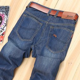 Wholesale High Waisted Capris Plus Size - Wholesale- New Spring Autumn Men Jeans High Quality Comfortable Trousers Fashion Style Male Pants Popular Men Mid Waisted Jeans For Men