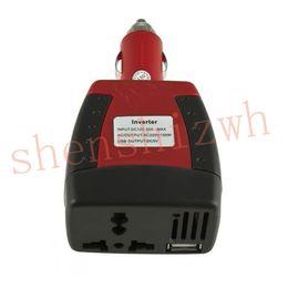 Wholesale Dc Car Charger - DC 12V to 110V 220V AC 150W car inverter USB 500mA mini-inverter For car cigarette lighter car charger for cellphone laptop lighter etc.