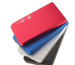 Wholesale Slim Sata Usb - High quality 4 Color USB 2.0 HDD Hard Drive Disk HDD Enclosure External 2.5 Inch Sata HDD Case Box Super Slim Aluminum alloy Mobile Disk