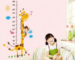 Canada Enfants Hauteur Tableau Sticker Mural Décor À La Maison Dessin Animé Girafe Hauteur Règle Maison Décoration chambre Stickers Mur Art Autocollant Papier Peint Offre