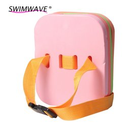 Wholesale Children Swimming Board - Wholesale- 4 Layers Swimming Floating Board Boy's Girl's Learning Pool Training Safety Belt Swimming Kickboard for Kids Children S M L#