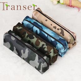 Wholesale Pencil Case Canvas - Wholesale- Elegance 1pc 4 Colors Camouflage Pen Bag Pencil Case Pouch Stationery Cosmetic Cases ,makeup bag DEC7 Dropshipping