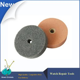 Wholesale Polished Wheels - Wholesale- Wholesale 3pcs lot 3 inch Watch Repair Tool Firble Buffing Wheel,Watches Polishing Tools Buffing Polishing Wheel