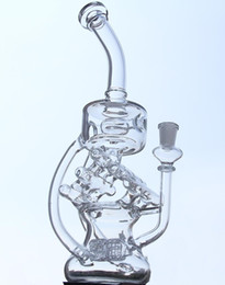 "Wholesale House 13 - 13"" Newest arrival very big Bong House Style Oil Rigs glass recycler oil burner Real Image Beaker Bongs 14.5mm joint"
