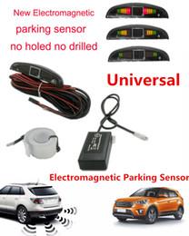 Wholesale Electromagnetic Sensor Parking - LED 12 V Universal Electromagnetic Auto Reverse Reversing Car Parking Backup Radar Sensor with Led Buzzer