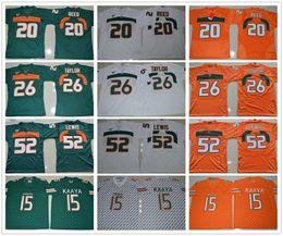 Wholesale Green Ray - 2017 Miami Hurricanes 15 Brad Kaaya College Football Jerseys 26 Sean Taylor Elite 52 Ray Lewis 20 Ed Reed Throwback College Football Jerseys