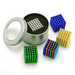 Wholesale Green Gifts For Kids - Fidget Magnetic Balls Kids Stress Relief Toys for Children 5mm Small Gifts Creative Splat Balls 12 Color New