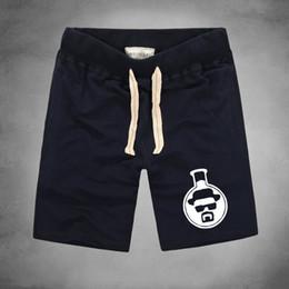 Wholesale Tube Knee Length - Wholesale- 2016 new fashion Breaking Bad Heisenberg Chemical Test Tube Black Men's shorts Fashion Design Printed 100% Cotton Bacis shorts
