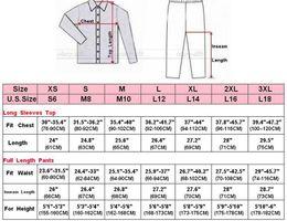 Wholesale Sexy Pjs - Gift Womens Silk Satin Pajamas Set Pajama Pyjamas Set PJS Sleepwear Loungewear S,M,L,XL,2XL,3XL Solid Plus