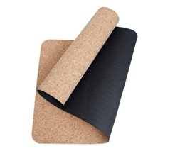 Wholesale exercising mat - Wholesale-NewYoga Mat natural cork yoga mat processing customized thickening TPE yoga mat exercise fitness pad