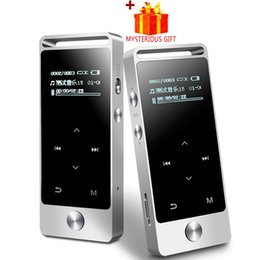 Wholesale mp3 player digital headphones - Wholesale- BENJIE S5 Lossless Portable Digital Hifi Flac Audio Sport Mp 3 Mini Music Mp3 Player With Headphones Screen Radio FM Running 8GB