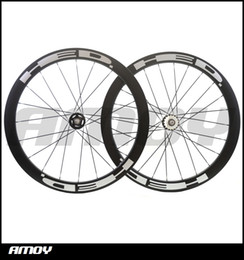 Wholesale Carbon Wheels Track Bike - 25mm width 50mm high HED paint fixed gear carbon wheelset full carbon 700C road track bike bicycle wheelswheels
