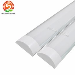 Wholesale Double Ceiling Led - High Bright Surface Mounted LED Batten Tubes Lights Double row T8 LED tri-proof Lamps 2ft 20W 4ft 40W explosion led ceiling light AC110-240V
