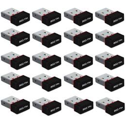 2019 оптовый ключ wi-fi 20 шт. Nano USB Mini 150 м Беспроводной Wi-Fi сети Интернет LAN карты адаптер Dongle скидка оптовый ключ wi-fi