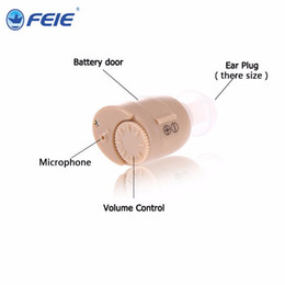Wholesale Cheap Ear Aids - Cheap price hearing aid mini invisible in the ear S-211 Hearing Amplifier beige color Deafness asistance free shipping