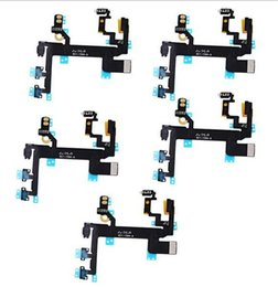 Wholesale Iphone 4s Volume Buttons - New Power Button On Off Flex Cable For iPhone 4 4S 5 5S 5C Mute Volume Switch Connector Ribbon Parts Boot Cable