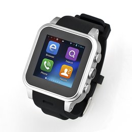 Wholesale Dual Sim Cell Phone Watch - PW308 MT6572 Dual core Android 4.4 system smart watches mobile cell phone with wifi camera GPS WCDMA 3G support SIM card whatsapp