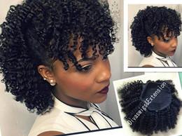 2019 clips africanos grátis Afro-americano afro extensão rabo de cavalo cabelo humano rabos de cavalo afro kinky clip em real cabelo remy drawstring rabo de cavalo frete grátis 120g desconto clips africanos grátis