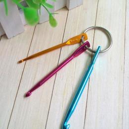 Wholesale Knitting Needles Crochet Hooks Wholesale - 3PCS Set 3MM 4MM 5MM Keychain Hooks DIY Multicolour Crafts Knitting Needles Mini Aluminum Crochet Hook Wholesale ZA4057