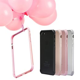 Wholesale Iphone Case Frame Aluminium - Ultra Thin Slim TPU Drop Resistant Back Case Aluminium Alloy Frame Cover For iPhone 7 6 6s Plus With Retail Pack