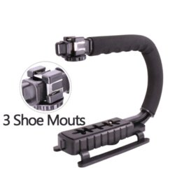 Wholesale Shoe Stand For Iphone - U-Grip Triple Shoe Mount Video Action Stabilizing Handle Grip Rig for Canon Sony DSLR Camera,for iPhone 7 plus Gopro  Smartphone