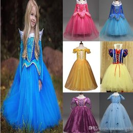 Wholesale America Mid - Europe and America style new arrival girl summer cute Beauty and the Beast Inspired Costume Tutu Dress Halloween Christmas Princess Dress