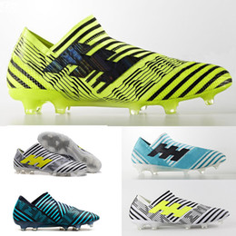 Wholesale Slip Spiked Shoes Men - New Arrival Football Boots Nemeziz 17+ 360 Agility Soccer Shoes ACE 17+ PureControl FG CR7 Soccer Cleat Original High Quality Football Cleat