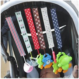 Wholesale Colored Plastic Fabric - High quality Baby Pacifier Clip Chain Colored Ribbon Baby Tooth Gum Off The Chain Free Shipping