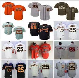 Wholesale Barry Bonds Giants Jersey - San Francisco Giants #25 Barry Bonds SF Grey Beige Black White Orange Camo Majestic MLB Baseball Jerseys Top Quality Stitched