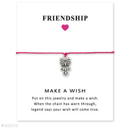 Wholesale Owl Friendship Bracelet - Silver Tone Owl Charm Bracelets & Bangles Gifts For Women Girls Adjustable Friendship Statement Jewelry With Card