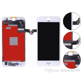 """Wholesale Iphone White Parts - Tianma LCD TOP A+++ New LCD Touch Screen Digitizer Assembly Parts For iPhone 7 lcd Display 7G 4.7"""" White Black Color 7plus 5.5inch"""
