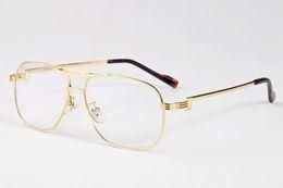 Tapa plana de gran tamaño grandes Gafas de sol Mujer Diseñador de la marca Cuerno de búfalo Gafas Vintage Retro hombres Mujer oro plata Oculos De Sol desde fabricantes